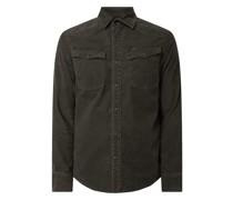 Slim Fit Freizeithemd aus Cord Modell '3301'