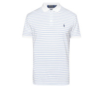 Slim Fit Poloshirt mit Allover-Muster