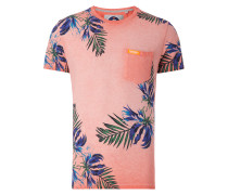 T-Shirt im Washed Out Look mit Print