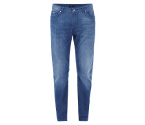 Regular Fit 5-Pocket-Jeans im Stone Washed Look