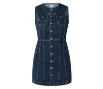 Jeanskleid mit Pattentaschen Modell 'Linea'
