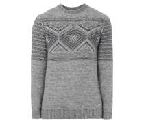 Pullover mit eingestricktem Ethno-Muster