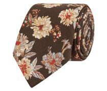 Krawatte aus Leinen-Baumwoll-Mix (6 cm)