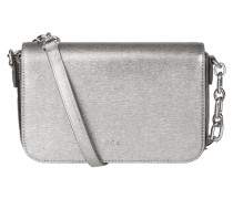 Crossbody Bag aus Leder in Metallicoptik
