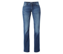 Flared Cut Jeans im Stone Washed Look