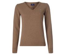 Pullover aus Wolle mit Logo-Stickerei