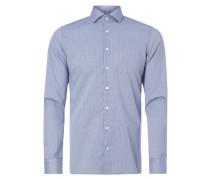 Slim Fit Business-Hemd mit Gitterkaro