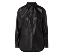 Bluse in Leder-Optik Modell 'Ferani'