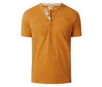 Serafino-Shirt mit Brusttasche