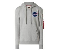 Hoodie mit NASA-Stickerei