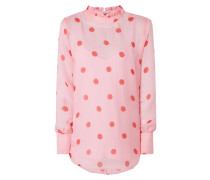 Blusenshirt aus Seide mit Polka Dots
