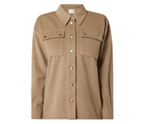Bluse aus Wollmischung Modell 'Reeta'