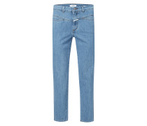 Stone Washed High Waist Jeans