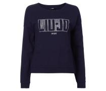Sweatshirt mit Logo aus Ziersteinen