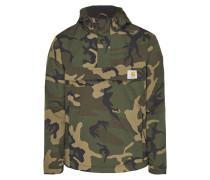 Jacke in Schlupfform mit Camouflage-Muster