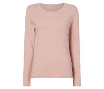 Pullover mit Pompon-Besatz