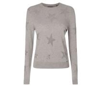 Pullover mit Sternen aus Ziersteinen