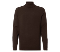 Rollkragen-Pullover mit gerippten Abschlüssen