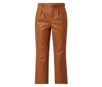 Bundfaltenhose aus Leder Modell 'Benedict'