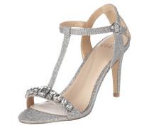 Sandalette mit Glitter-Effekt und Ziersteinen