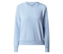 Sweatshirt mit Logo-Flockprint Modell 'Lupa'