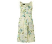Kleid mit Biesen und floralem Muster