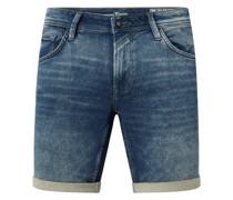 Regular Fit Jeansshorts aus Sweat Denim