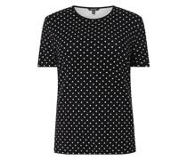 PLUS SIZE T-Shirt mit Punktmuster Modell 'Alli'