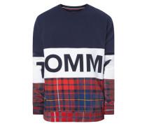 Oversized Sweatshirt mit Tartanmuster