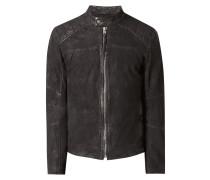 Biker-Jacke aus Leder im Vintage Look