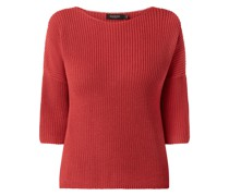 Oversized Pullover mit 3/4-Arm