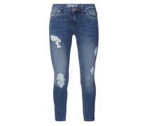 Destroyed Skinny Fit 5-Pocket-Jeans
