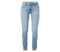 Skinny Fit Jeans mit seitlichen Schattierungen