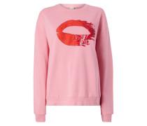Sweatshirt mit eingesticktem Motiv und Pailletten