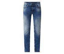 Slim Fit Jeans mit Stretch-Anteil Modell 'Savio'