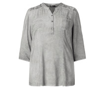 PLUS SIZE - Blusenshirt im Washed Out Look mit Spitze