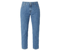 Mom Fit Jeans mit Sternenmuster