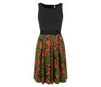 Kleid mit elastischem Taillengürtel