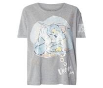 Boxy Fit T-Shirt mit Wende-Pailletten