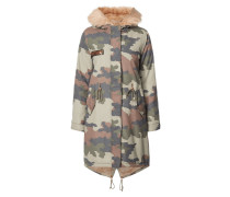 Parka mit Camouflage-Muster