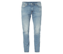 Stone Washed Slim Taper Fit Jeans