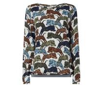 Blusenshirt aus Krepp Modell 'Edite'