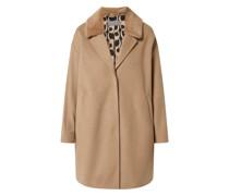 Mantel mit abnehmbarem Kunstfell