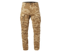 Tapered Fit Cargohose mit Camouflage