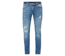Slim Fit 5-Pocket-Jeans im Destroyed Look