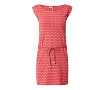 Kleid mit Taillengürtel Modell 'Chevron'