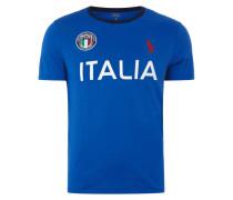 T-Shirt mit Italien-Aufnäher und -Prints