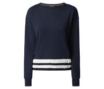 Sweatshirt mit gestricktem Kontrastsaum