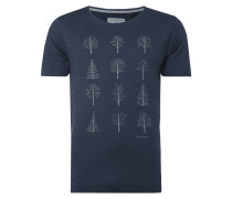 T-Shirt mit Baum-Prints