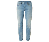 Regular Fit 5-Pocket-Jeans mit Zierperlen